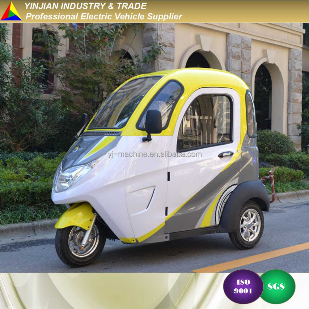 New 3 Wheeler E Tricycle Modern Rickshaw,Mini City E Trike E Bike Electric Tricycle for Service Carts Food Delivery Trolley