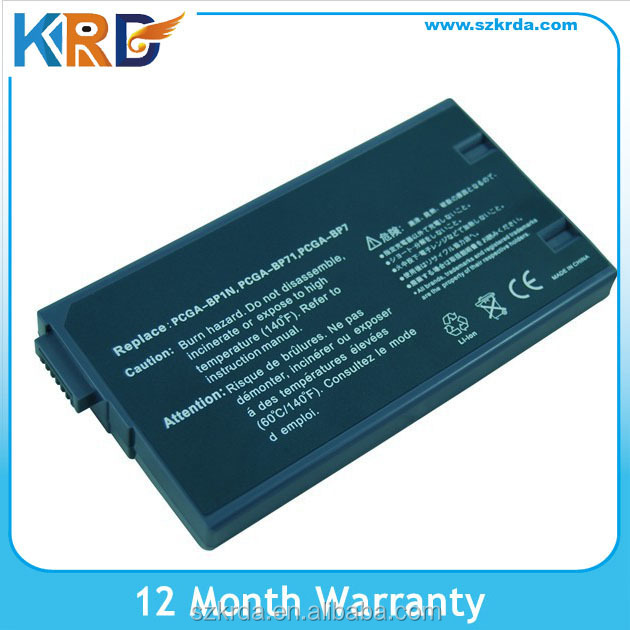 Replacement laptop battery for SONY PCGA-BP1N PCGA-BP71 PCGA-BP7 battery