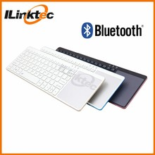 New Colorful aluminum alloy wireless bluetooth keyboard with Mouse Tracking pad