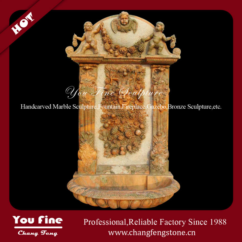 Marble Carving Garden Wall Mounted Water Fountain