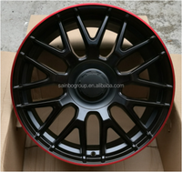 Factory price aftermarket car alloy wheels, sport wheel rims with pcd 5 holes 112-120 F10256