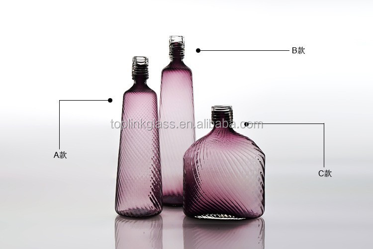 High Quality Glass Vase artificial flower with glass vase purple Glass Vase