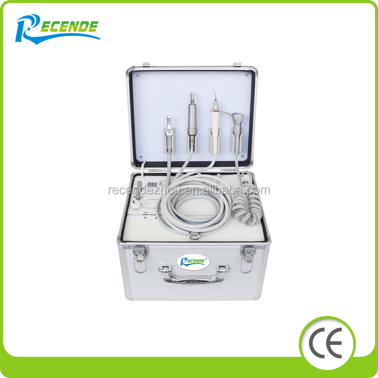 Mini Portable Dental Unit with eletrical motor and strong suction system