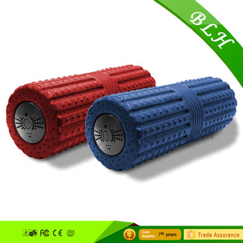 Yoga vibrating foam roller massage roll