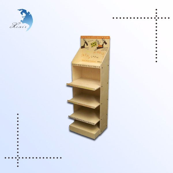 Promotional Supermarket Custom Wooden Display Wine Rack