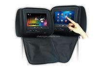 Touch Screen 7 Inch Headrest Car DVD Player Support 2 Channes IR Headphone