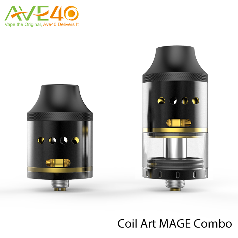 CoilArt MAGE Combo RDTA Rebuildable Dripping Tank Atomizer