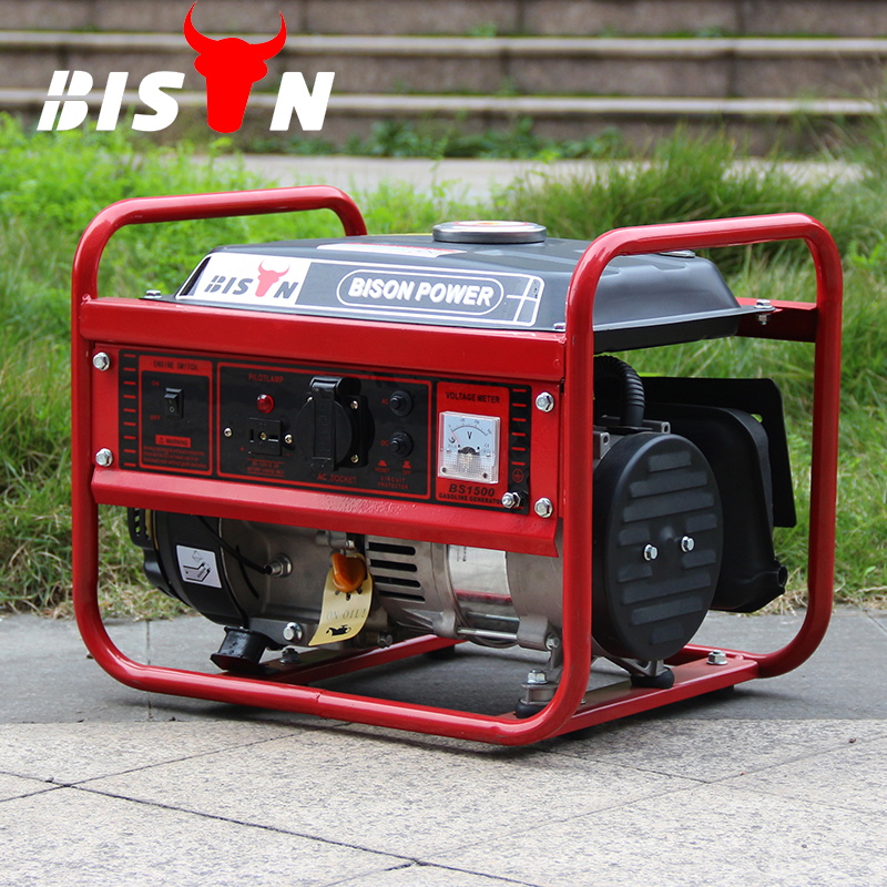 BISON (CHINA) 100% Copper Wire 1 kva Generator Hand Start, 1000w Silent Gasoline Generator