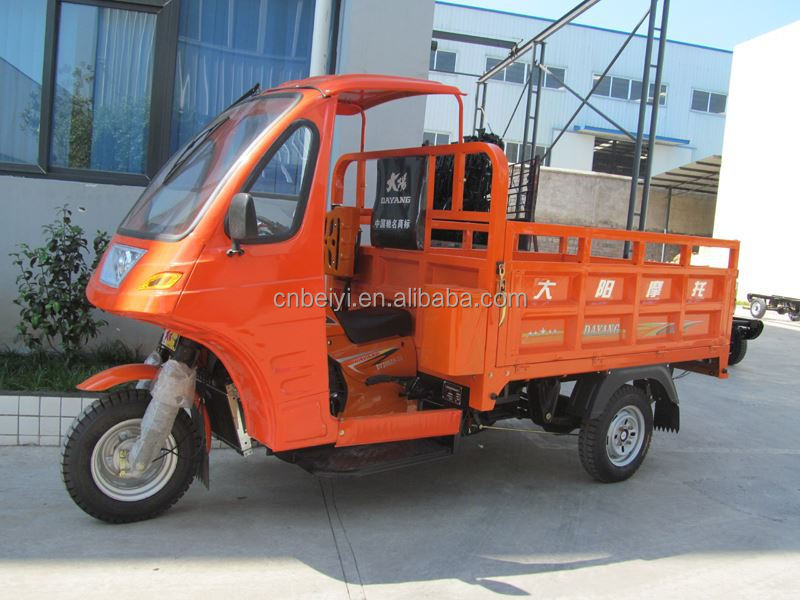 Semi-closed Tricycle 200cc Cargo tricycle adult cargo three wheel motocycle with cab with CCC
