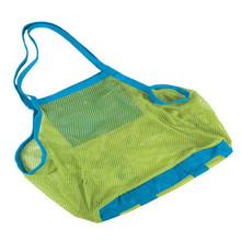 Promotional cheap foldable summer polyester mesh oem beach bag