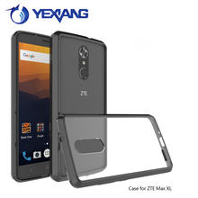 Cell phone accessories Fashion Acrylic Back Tpu Frame Transparent Hard For ZTE Grand X4 Case