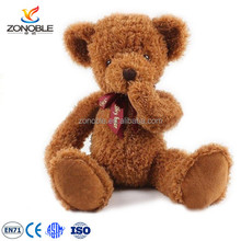 Custom cute stuffed plush teddy bear toy wholesale brown name teddy bear