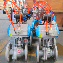 High quality floating ball valve with pneumatic actuator
