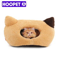 2015 Cat shape pet beds soft tunnel pet bed