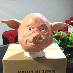 Halloween Costume Party Latex pig Head Mask for sell