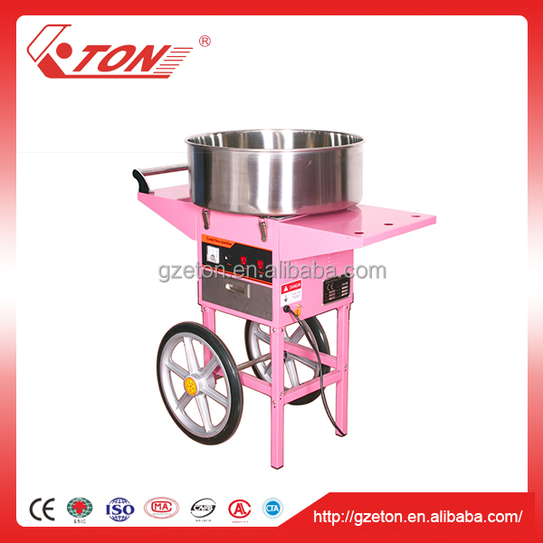 Cotton Candy Floss Machine with Cart and Plastic Bubble