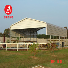 Base price prefabricated steel building metal garage double car carport