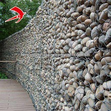 Gabion mesh galvanized and PVC coated retaining wall material gabion stone basket