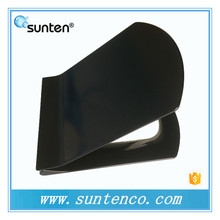 Black Color Ultra Slim Customized Made D Shape Toilet Seat