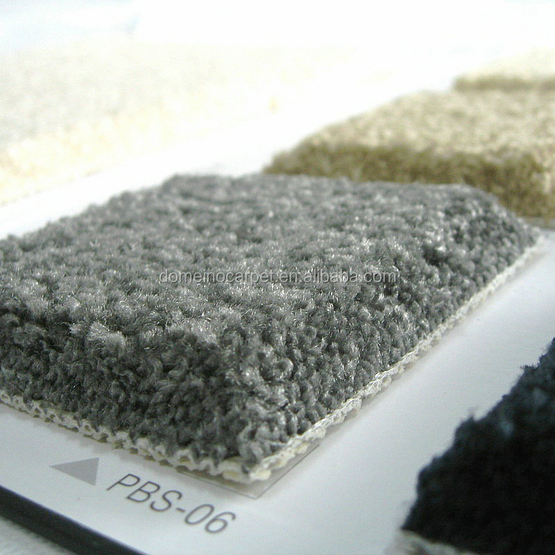 Charcoal gray color carpet solution dyed nylon wall to wall carpet