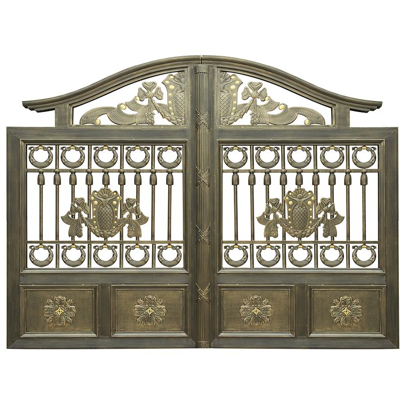 Decorative remote control luxury wrought iron gates