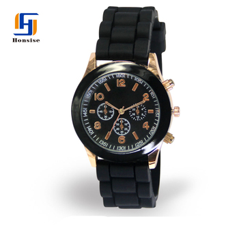 2018 Best Selling Male Silicone Band Quartz Watch