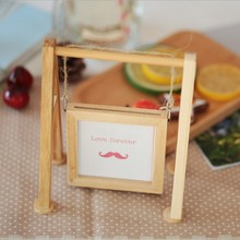 Creative DIY raw wood photo frame with string / DIY photo frames factory directly sales