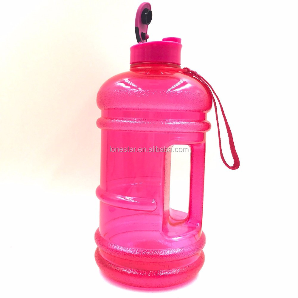 Green color 2.2L PETG/Tritan bottle big volume water bottle with flip lid