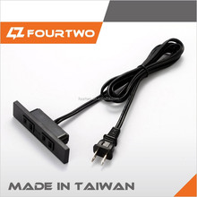 Taiwan portable new product cns pse approval vff 2.0 2c 1.8M black travel extension cord