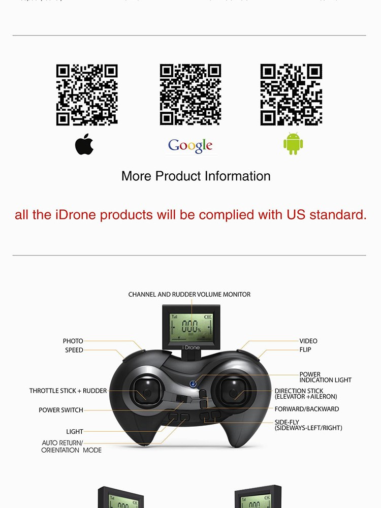 Minitudou New 2016 i Drone Series i4s 4CH 6-axis UFO 2MP HD Camera RC Quadcopter Kit