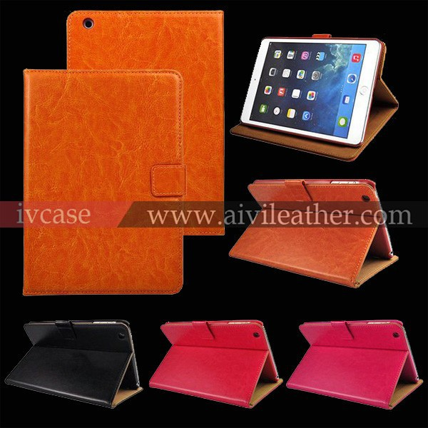 7 inch tablet leather case for ipad , tablet pc case