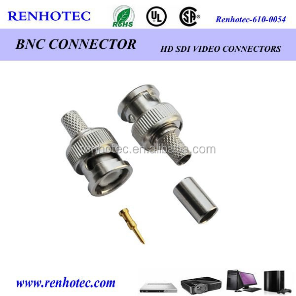 50 Ohms nickel plated BNC Plug 1/4 W Resistive Termination