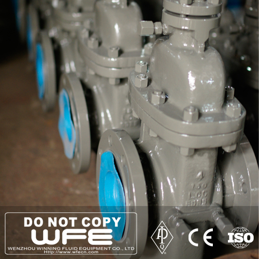 API Carbon Steel A216 Wcb Gear Box Operator Flange End Slab Gate Valve