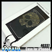 With OEM packaging skull master cartoon leather case for iphone 4