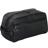 Large Genuine Black Leather Travel Kit Shaving Mens Cosmetic Toiletry Bag Pattern