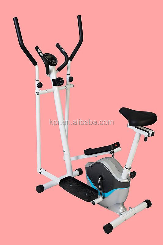 Magnetic elliptical cross trainer exercise bike with seat