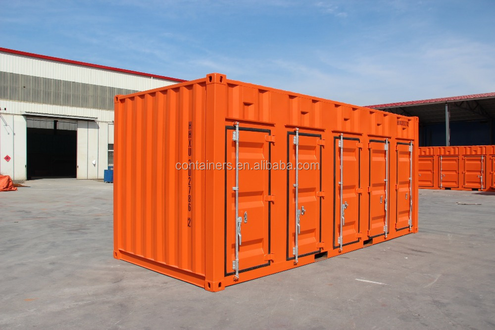 devided 5 parts container door open side shipping dry container