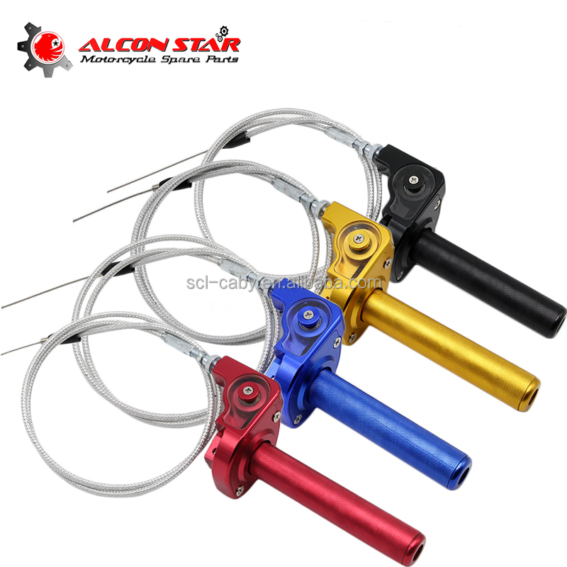 CNC Aluminum Acerbs Throttle Grip Quick Twister + Throttle Cable CRF50 70 110 IRBIS 125 250 Dirt Bike Motorcycle