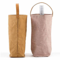 Cheap logo printed Brown kraft Paper wine water bottle bag