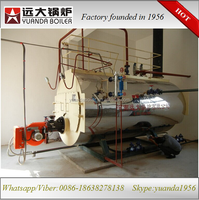 Diesel oil/gas hot water boiler poultry heating system