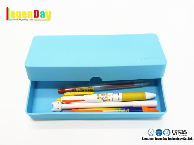 Fashion Design School Office Silicone Pencil Cases Pen Bag/Pen Holder Bags