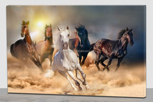 Horse lighted canvas wall art home decorations,lighted paintings horse
