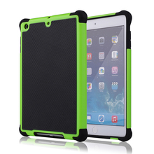 IMPACT HARD SOFT GEL DEFENDER COMBO HYBRID ARMOR CASE COVER FOR APPLE IPAD MINI 2 3