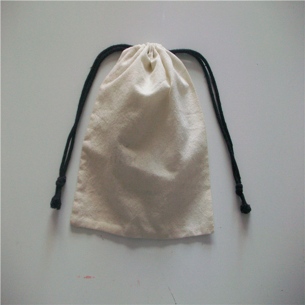 small cotton pouch bag/shopping paper bags with cotton handles