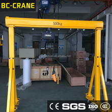 Manufacturer Portable Mini Rubber Tyre 1Ton Mobile Gantry Crane