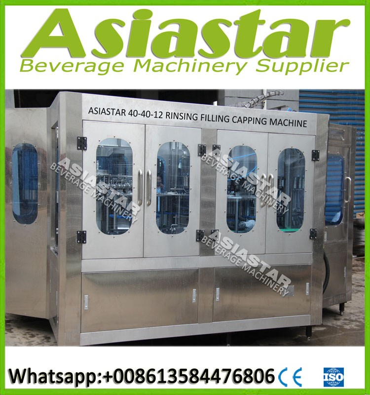 Complete 3 in1 liquid packing machine water filling machine