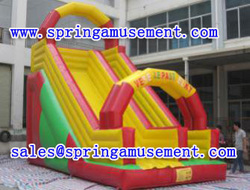 Hot PVC Material Slide games inflatable wet/dry slide inflatable slide without pool for sale SP-SL019