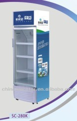 glass door upright cooler with Cassette removable cooling system,beverage display fridge showcase,upright cooler