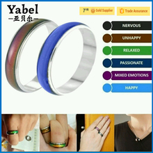 Fashion latest gold finger mood ring designs men's titanium rings changing color couple ring