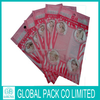 laminated material plastic bags/box for hair care